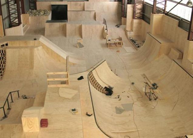 Indoor Skate Park build