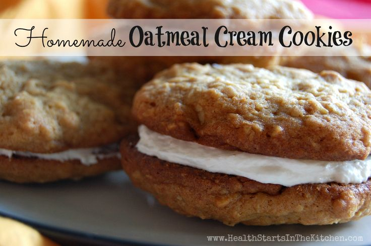 Homemade Oatmeal Cream Cookies - So easy and made with REAL FOOD Ingredients!