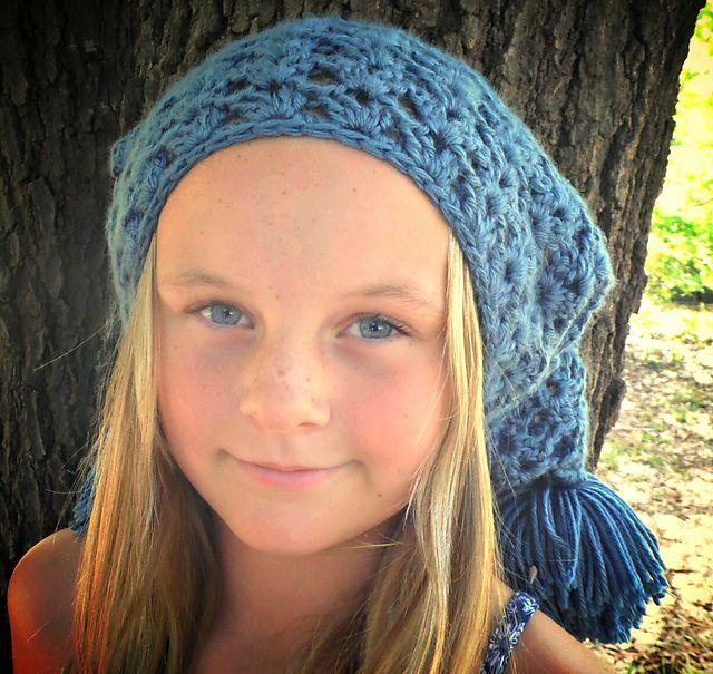Shelby Shell #crochet Slouch hat by #KaleidoscopeArtnGifts http://bit.ly/1Vp6MKO #mmmakers