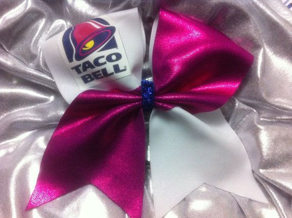 3 Cheer Bow Taco Bell by SarahsCheerBows on Etsy, $12.00