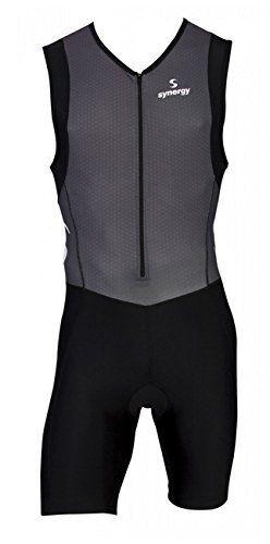 Synergy Men's Triathlon Trisuit (Gray/Black, X-Large) - http://www.exercisejoy.com/synergy-mens-triathlon-trisuit-grayblack-x-large/fitness/