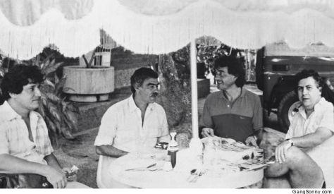 Juan David Ochoa, Germán Castro Caycedo, Carlos Lehder y Pablo Escobar