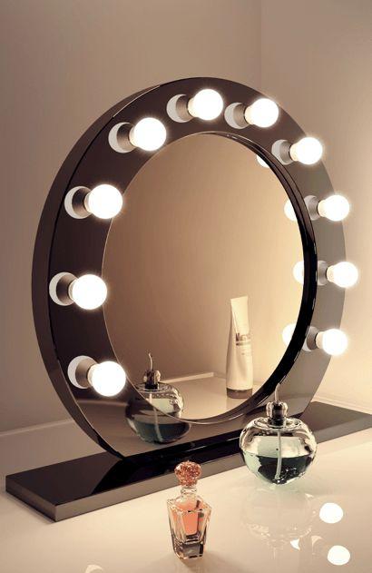 High Gloss Black Hollywood Mirror - House of Sparkles - 1