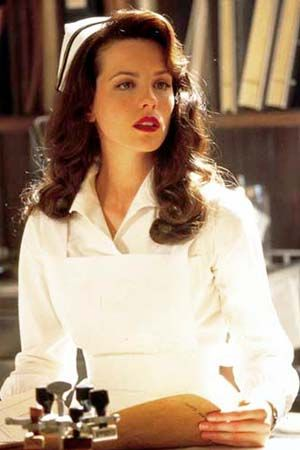 Nurses, Wedding Hair, Kate Beckinsale, Pearls Harbor, Makeup, Beautiful, Nursing, Pearl Harbor, 40S Hair