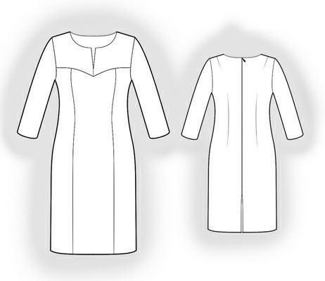 Dress  - Sewing Pattern #5956 Made-to-measure sewing pattern from Lekala with free online download.