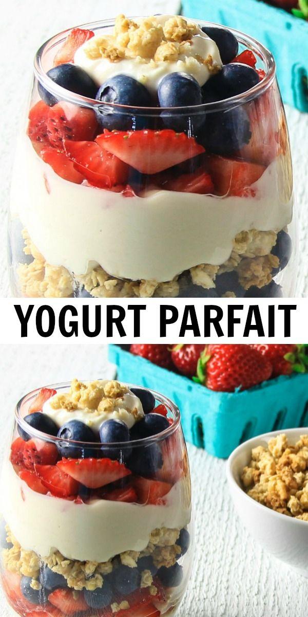 Greek Yogurt Parfait In 2020 Greek Yogurt Recipes Breakfast Parfait Recipes Yogurt Recipes Breakfast