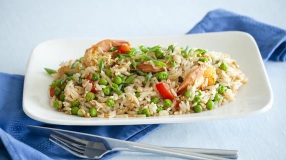 Жареный рис с креветками. Пошаговый рецепт с фото на Gastronom.ru