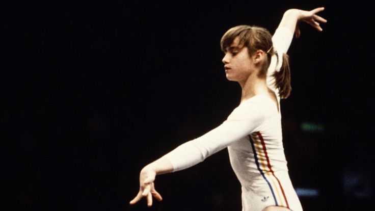 The first Olympic gymnast to score a perfect 10 - In July 1976, Romanian gymnast Nadia Comaneci won gold at the Montreal Olympics