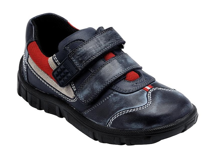 Hover - Leather School Shoes for Boys - funky boys shoes with Velcro-style fastening and breathable lining.