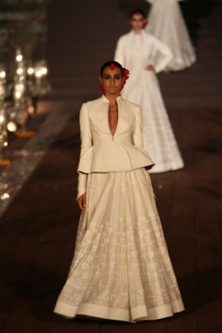 Rohit Bal SS2015 - fav look 1. Regal, monochrome and exquisitely tailored