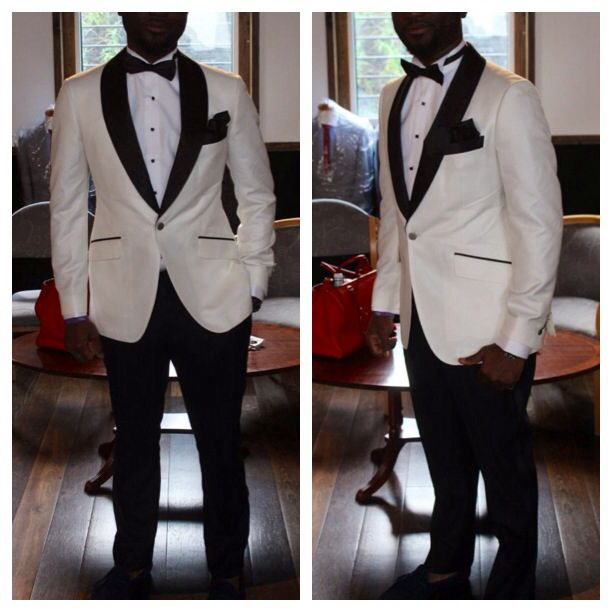 Ivory Tuxedo With Black Satin Shawl Lapel Menswear