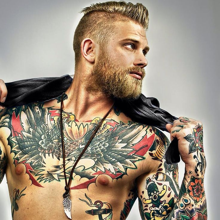 184 best images about tattoo 39 s on pinterest models ink for Bearded tattooed man