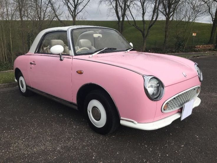 NISSAN FIGARO PINK 1.0, ONLY 28,750 MILES, ONE OWNER, FULL 12 MOT, AUTO LEATHER CONVERTIBLE, 2 KEYS