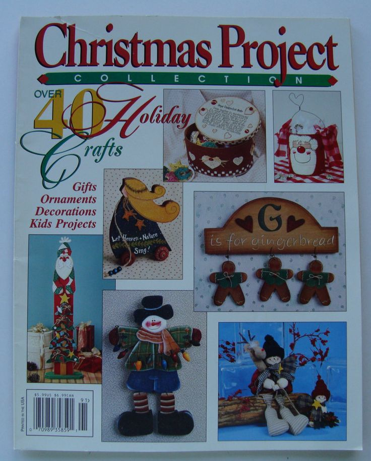 Christmas Project Collection, 40 Holiday Crafts patterns/ Gifts, Ornaments, Decorations, Adults, Children, Country Projects, wood, fabric by RedWickerBasket on Etsy