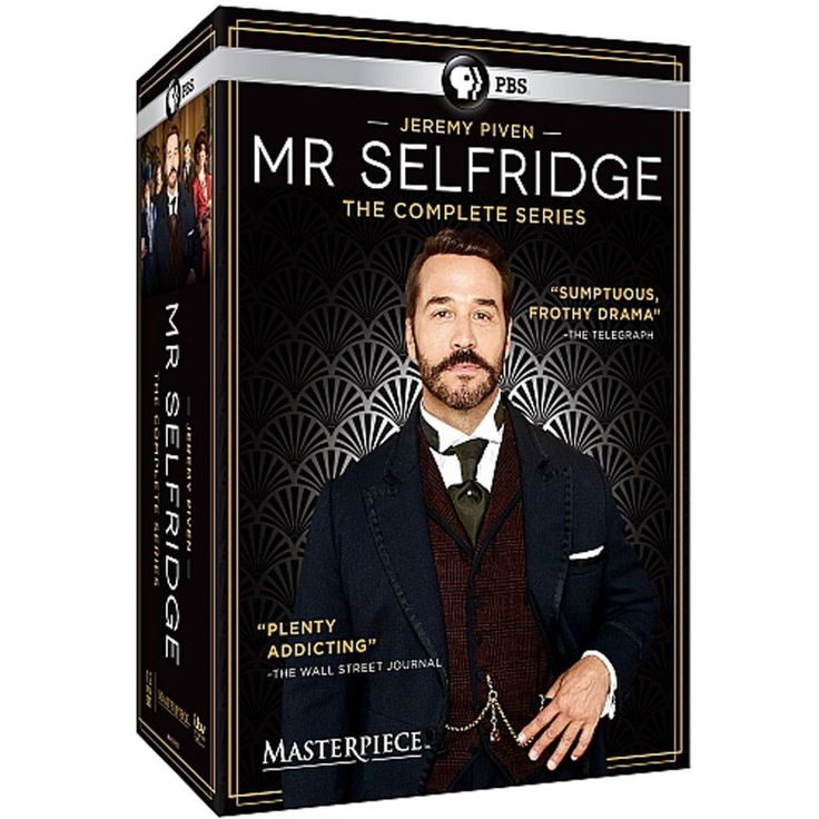 "Mr. Selfridge - The Complete Series Enjoy all four seasons of the thrilling series hailed as ""addicting"" by the Wall Street Journal. Created by Emmy® Award-winning writer Andrew Davies, Mr. Selfridge brings to life the story of American entrepreneur Harry Gordon Selfridge, the colorful and visionary founder of London's most lavish department store, and features a brilliant ensemble cast led by three- time Emmy® Award-winning actor Jeremy Piven."