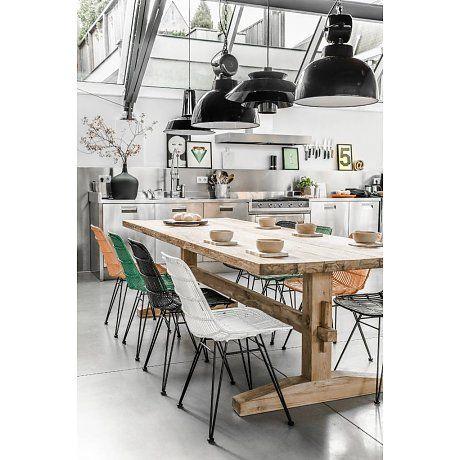 HK-living Tafel rustiek hout XL 280x100x78cm, Tafel rustiek XL