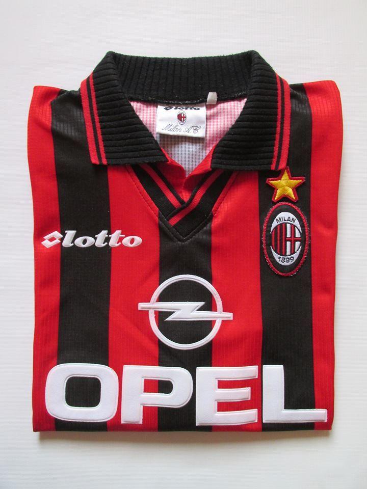 77b00bf075 AC Milan 1997 1998 home football shirt by lotto forsale milan rossoneri italy  calcio 90s