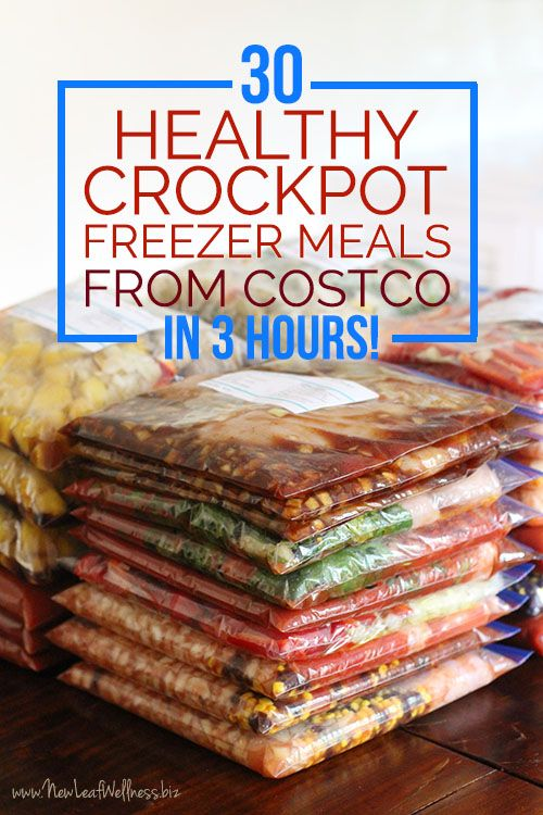 447 best freezer meal prep sessions images on pinterest freezer 30 healthy crockpot freezer meals from costco in 3 hours free recipes and grocery list forumfinder Gallery