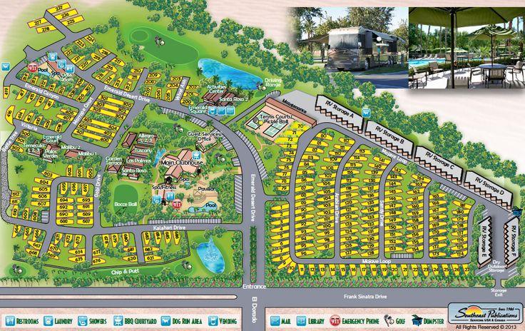 Rv Resort Map Emerald Desert Rv Resort Resort Map