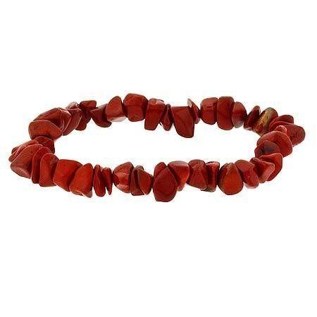 Sterling Silver .925 Genuine Red Jasper Stone Chip Stretch Bracelet SilverSpeck.com. Save 80 Off!. $2.99