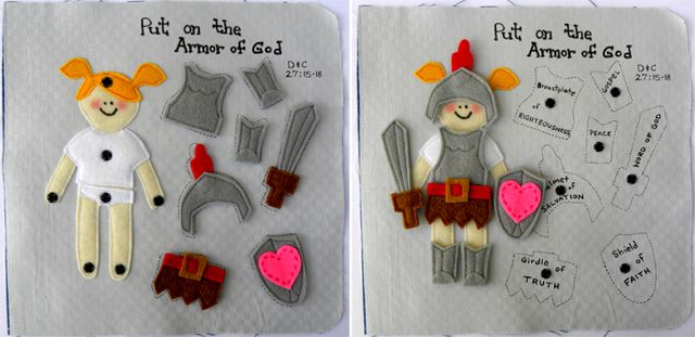 """""""Armor of God""""  quiet book page"""