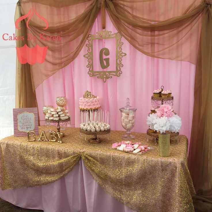 Pink and Gold baby shower Baby Shower Party Ideas   Photo 1 of 4