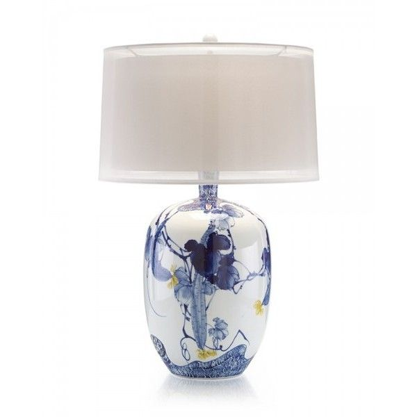 Blue Asian Gardens Table Lamp Liked On Polyvore Featuring Home Lighting Lamps