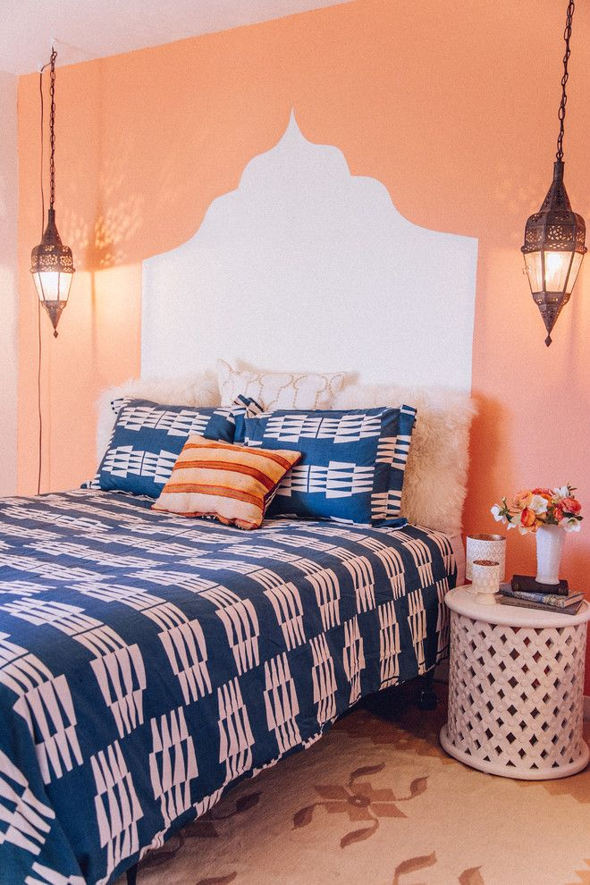 17 Best Ideas About Navy Orange Bedroom On Pinterest