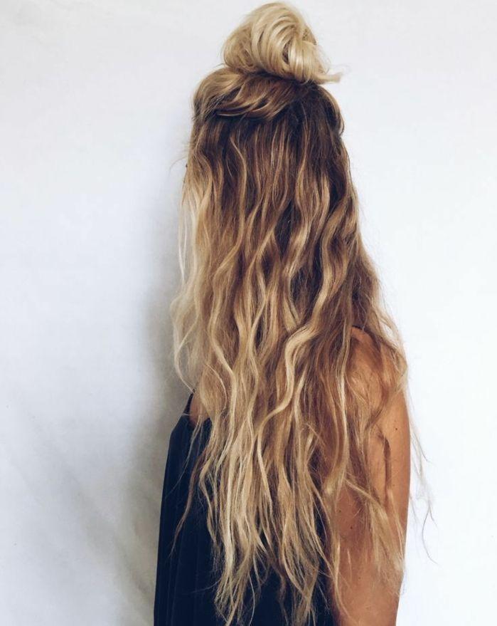 Coiffure cheveux long meche