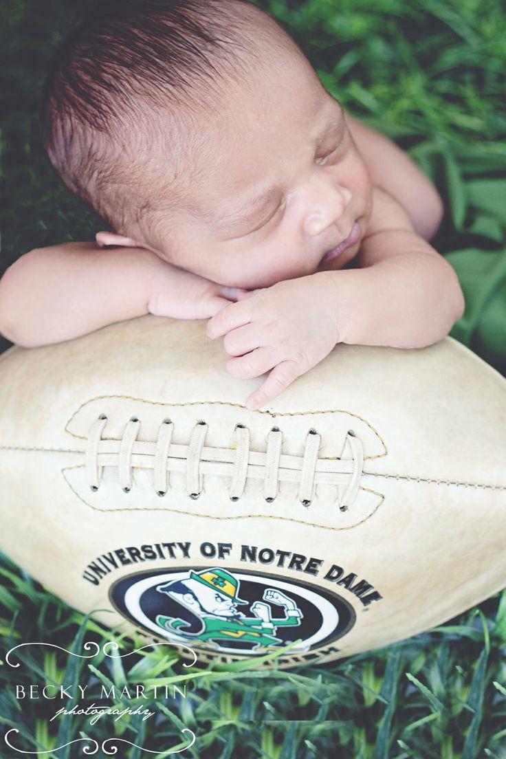 Notre Dame  Football Newborn Becky Martin Photography