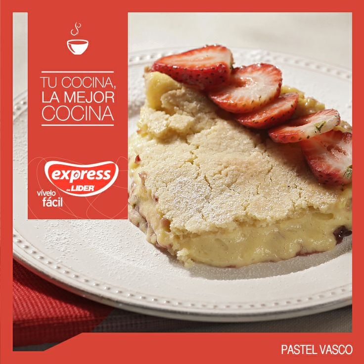 Pastel Vasco #Recetario #Receta #RecetarioExpress #Lider #Food #Foodporn #Mundial #España