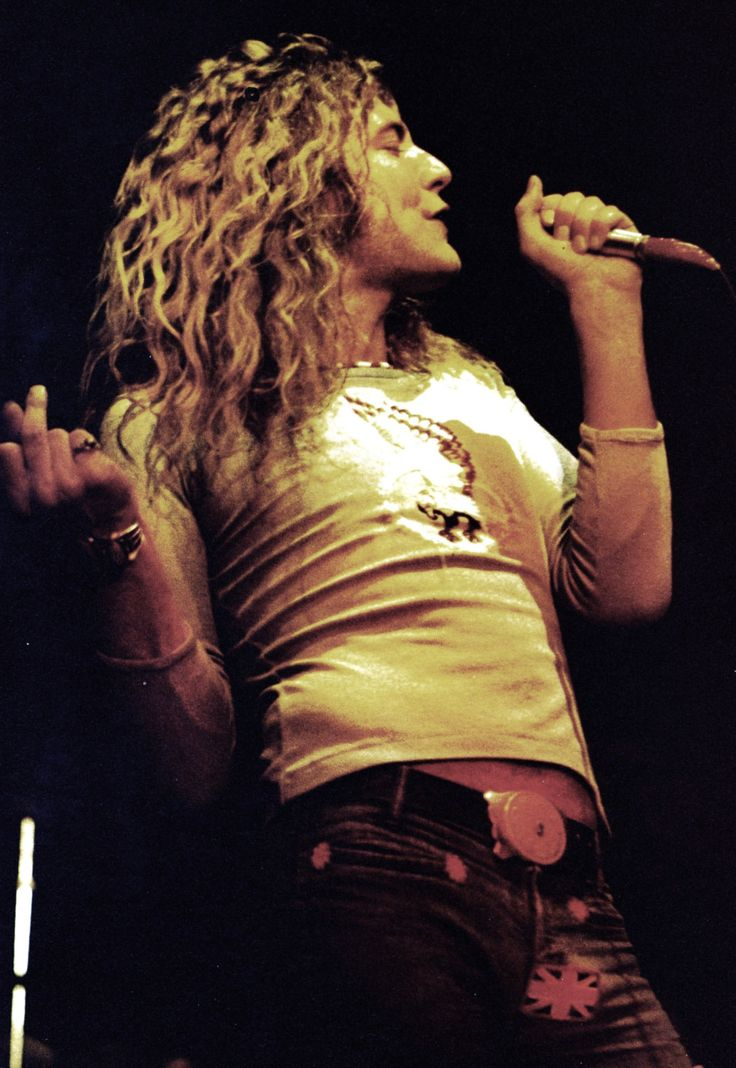 Robert Plant poster. What a sexy dude.