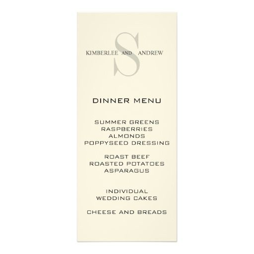 17 best Menu real images on Pinterest Wedding menu cards - dinner party menu template