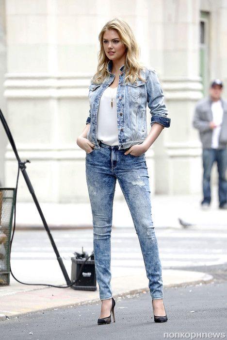 Кейт Аптон на фотосессии в Нью-Йорке - popcornnews