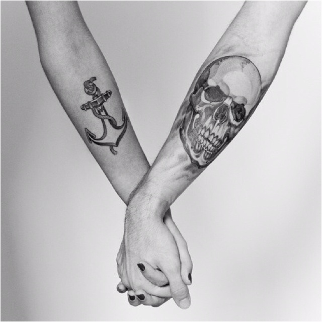 tattooTattoo Couples, Couples Tattoo, Tattoo Ideas, Skull Tattoo, High Heels, Arm Tattoo, Anchors Tattoo, Tattoo Ink, Holding Hands