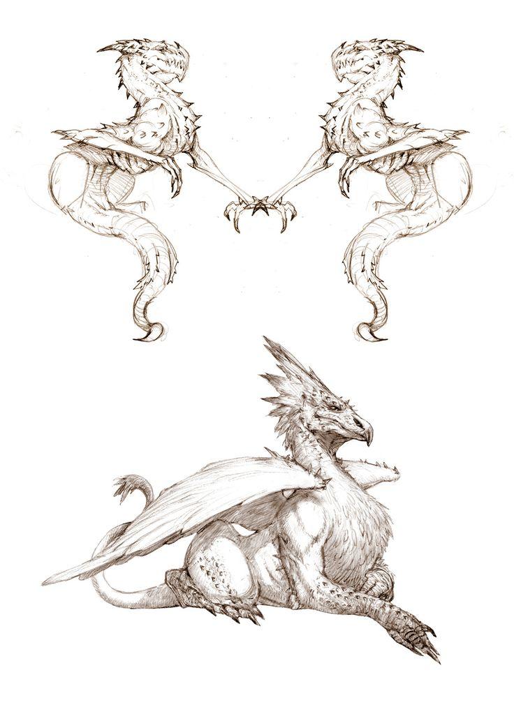 monster sketch, yasu _ on ArtStation at https://www.artstation.com/artwork/W36Z3