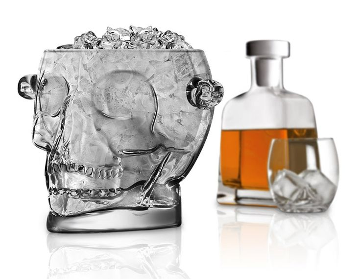 Glass Skull Ice Bucket $20