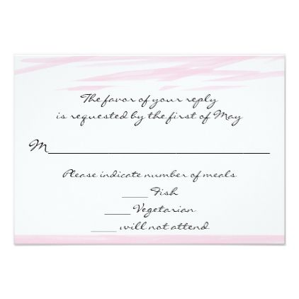 """""""Blushing Pink"""" Response/reply Cards - blush pink gifts unique special diy custom"""