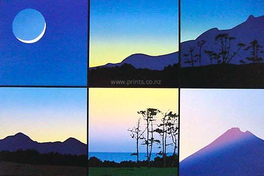 Six Views from Studio at Daybreak by Peter Lambert for Sale - New Zealand Art Prints
