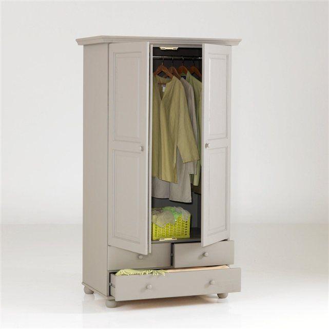Image 5 Armoire pin massif, 2 portes penderie, 3 tiroirs, Harold La Redoute Interieurs