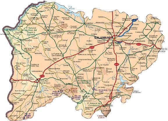 Provincia De Salamanca Mapa.Provincia Salamanca Pais Leones Pais Lliones Mapa De