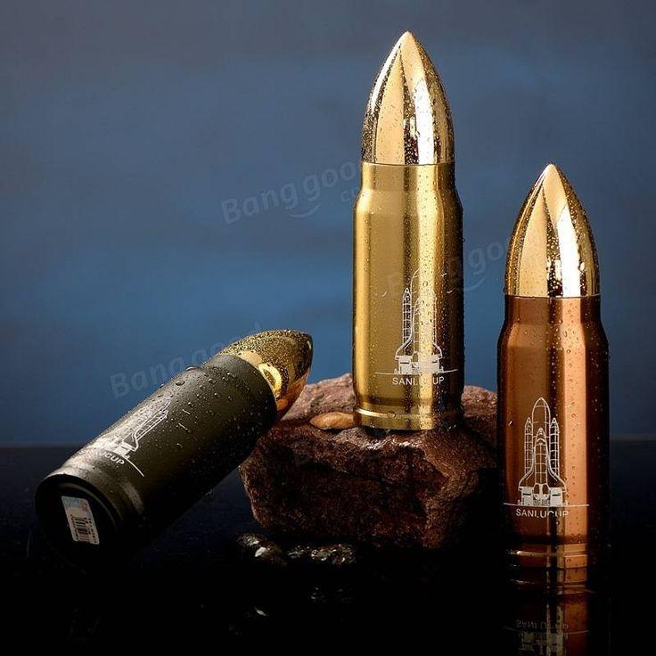 Cool Stainless Steel Bullet Vacuum Flasks Travel Mug Insulation 12h 350ml Winter…