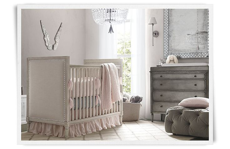Baby Girl Rooms  Restoration Hardware Baby & Child...Love the color ...