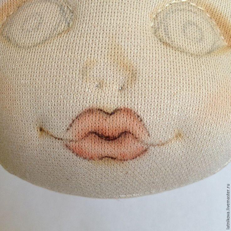 Рисуем губки текстильной кукле - Ярмарка Мастеров - ручная работа, handmade