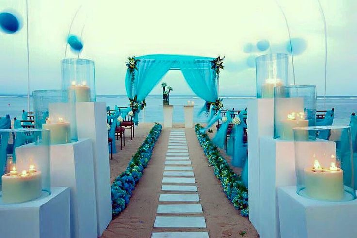 Ideal beach wedding