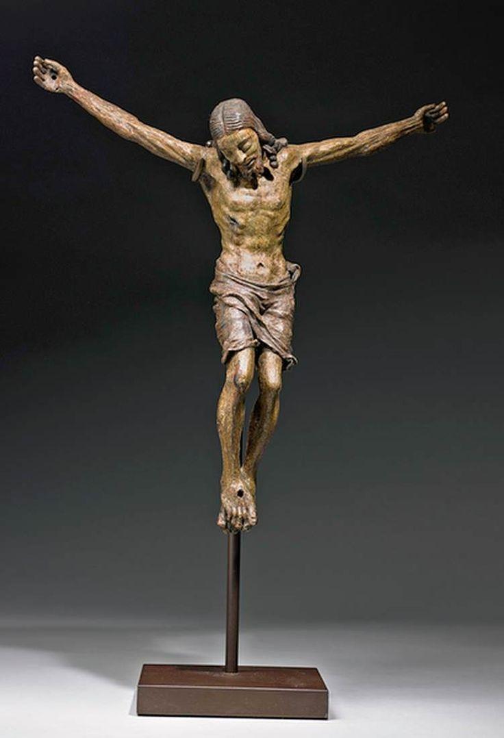MONTELUPO, Baccio da Italian sculptor (b. 1469, Montelupo, d. 1535, Lucca) Corpus Christi - Polychromed wood, figure height 36 cm Private collection