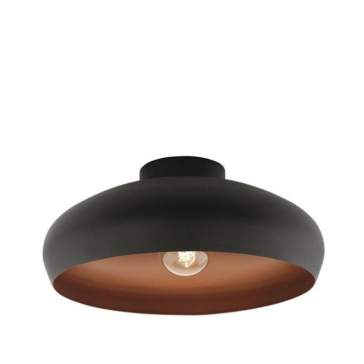 Eglo 94547 | Mogano Vintage Black & Copper 1 Lamp Flush Light – Discount Home Lighting