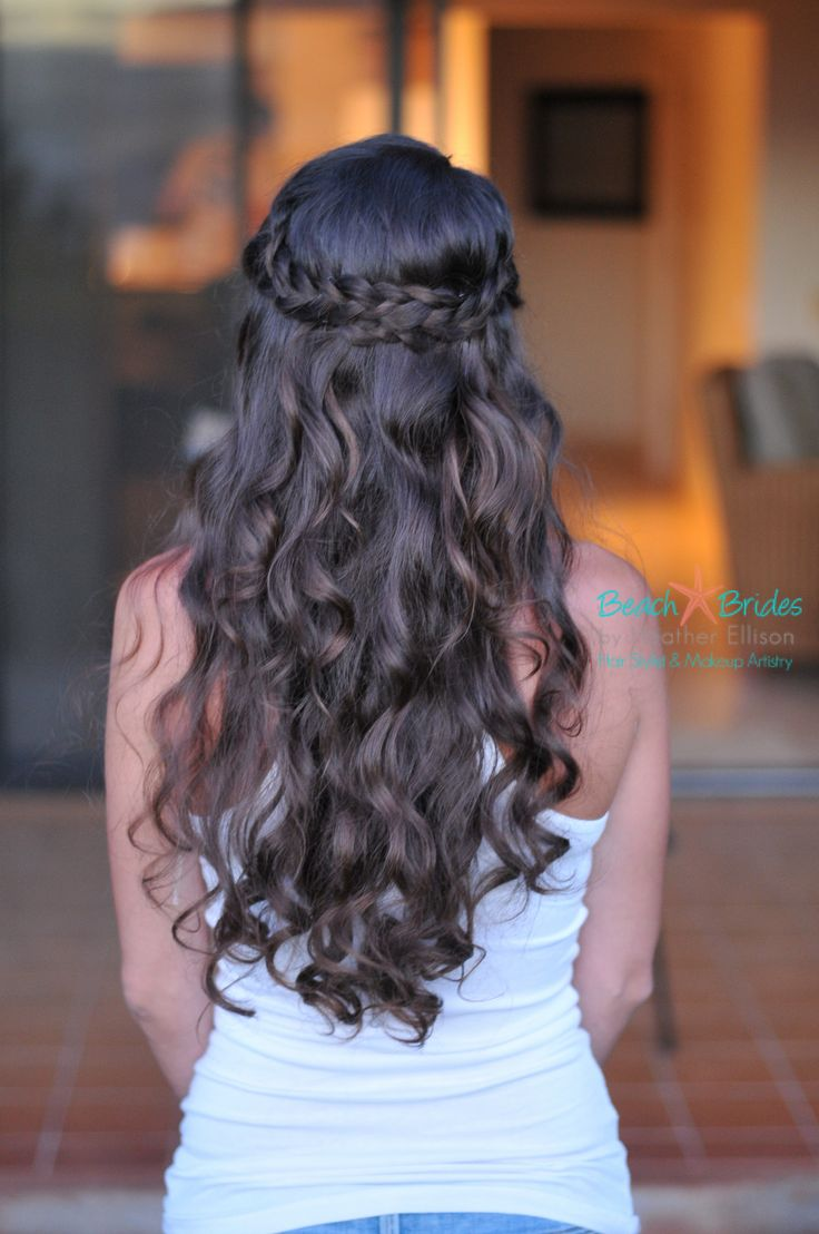 Half up with braid. I love this wedding hair too. I have two styles tied.