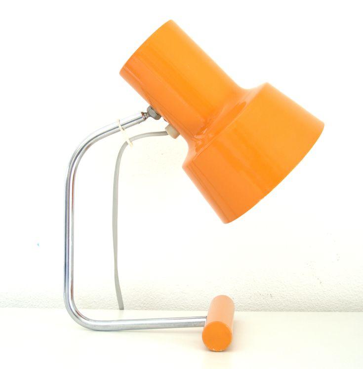 Excited to share the latest addition to my #etsy shop: Josef Hurka desk lamp for Napako, Czech design https://etsy.me/2EUxLeL #housewares #lighting #orange #bedroom #industrialutility #metal #60s #vintage #lamp