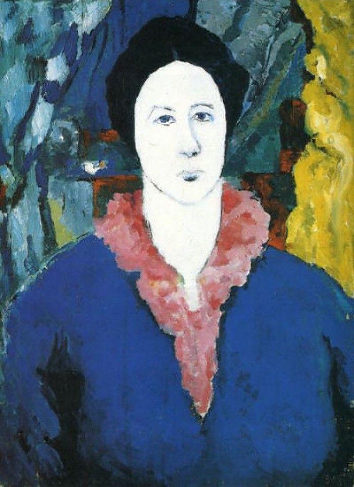 Kazimir Malevich, Blauw portret, 1930, olieverf op doek, 46.5 x 34.5 cm, Russisch Museum, St. Petersburg  http://www.artsalonholland.nl/schilderijen-expressionisme/kazimir-malevich-blauw-portret